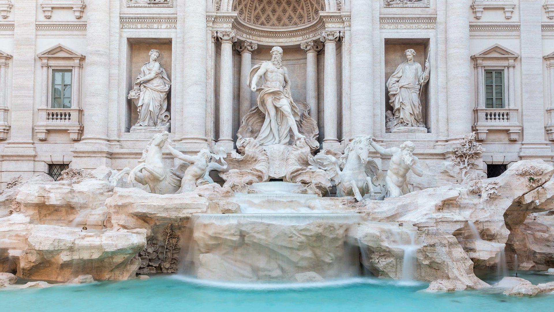 Fontana trevi Letusdrive tours Napoli Naples Napoles Italia, Italy Pompeya – Sorrento - Positano